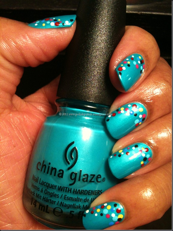 "China Glaze–""Turned Up Turquoise"" (neon) (matte) « Polish2Times"