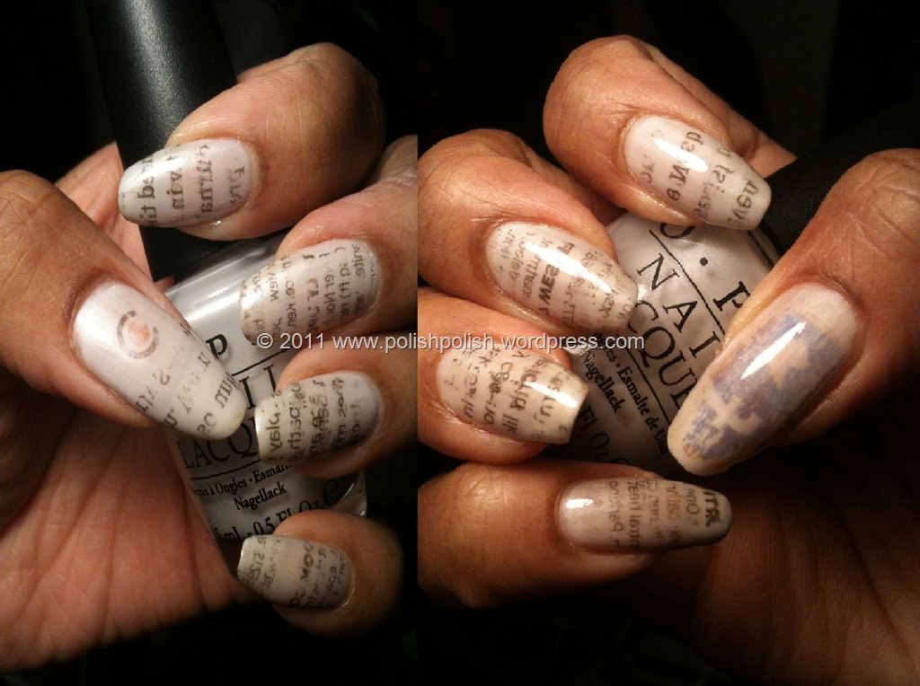 Newspaper Comic Nails Newspaper Nails