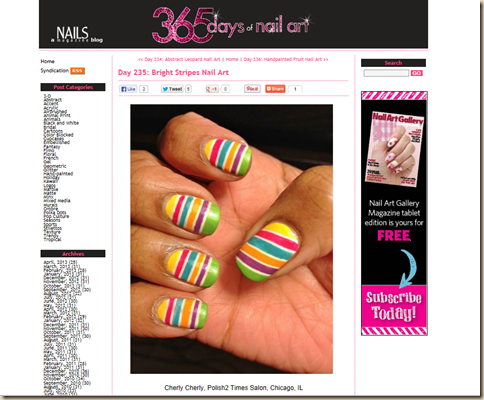 365NailArt stripes